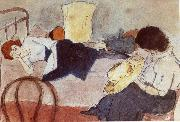 Jules Pascin Aiermila and Lucy oil painting picture wholesale