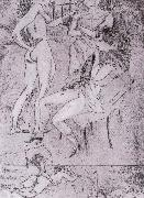 Jules Pascin Cupiter and three woman oil painting picture wholesale