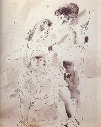 Jules Pascin Woman and lass oil painting picture wholesale