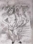 Jules Pascin Libaja at the front of Mirror oil painting picture wholesale