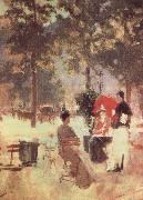 Konstantin Alexeievich Korovin Cafe in Paris oil painting picture wholesale