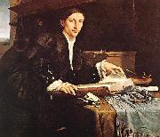 Lorenzo Lotto Portrait of a Gentleman in his Study oil
