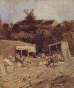 Matthijs Maris Quarry at Montmartre oil painting reproduction