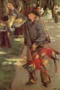 Max Liebermann Man with Parrots oil painting picture wholesale