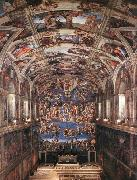 Michelangelo Buonarroti Interior of the Sistine Chapel oil painting picture wholesale
