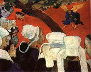 Paul Gauguin The vision for the mass oil painting picture wholesale