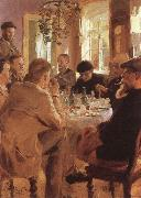 Peder Severin Kroyer Artists at Breakfast oil painting picture wholesale