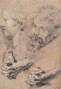 Peter Paul Rubens Head and hand-s pencil sketch oil painting picture wholesale