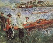 Pierre-Auguste Renoir Oarsmen at Charou oil painting reproduction