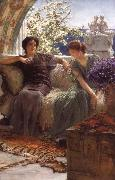 Sir Lawrence Alma-Tadema,OM.RA,RWS Unwelcome Confidence oil painting picture wholesale