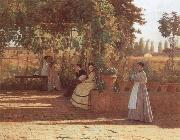 Sylvestro Lega The Pergola oil painting artist