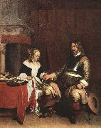 TERBORCH, Gerard Man Offering a Woman Coins oil painting picture wholesale