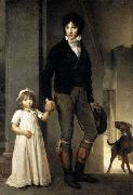 Theodore Gericault Jean-Baptist Isabey, Miniaturist, with his Daughter oil painting picture wholesale