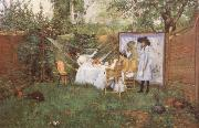 William Merrit Chase The Open air Breakfast oil painting picture wholesale