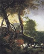 Adam Pynacker Landscape with Animals oil