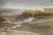 Albert Goodwin,RWS Certosa,near Florence (mk46) oil