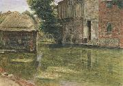 Albert Goodwin,RWS Old Mill,Near Winchester (mk46) oil