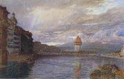 Alfred William Hunt,RWS Lucerne (mk46) oil painting picture wholesale