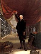 Charles Willson Peale The Artist in his Museum oil painting