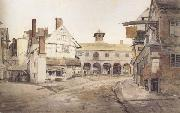 Cornelius Varley Ross Market Place,Herefordshire a sketch on the spot (mk47) oil painting picture wholesale