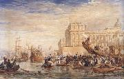 David Cox Embarkation of His Majesty George IV from Greenwich (mk47) oil painting artist