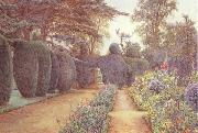 Ernest Arthur Rowe The Gardens at Campsea Ashe.Watercolur (mk46) oil painting picture wholesale