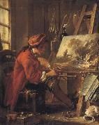 Francois Boucher Young Artist in his Studion oil painting artist