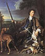 Francois Desportes Portrait of the Artist in Hunting Dress oil painting artist