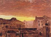 Frederic E.Church Rooftops at Sunset,Rome,Italy oil painting picture wholesale
