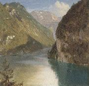 Frederic E.Church Koenigssee,Bavaria oil painting picture wholesale