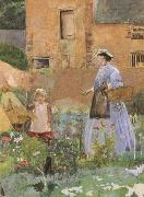 George John Pinwell,RWS In a Garden at Cookham (mk46) oil painting artist