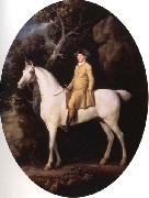 George Stubbs Self-Portrait on a White Hunter oil painting artist