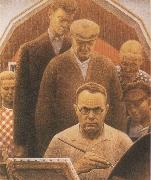 Grant Wood Return from Bohemia oil painting artist