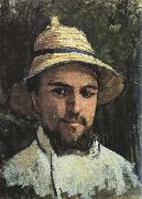 Gustave Caillebotte Self-Portrait in Colonial Helmet oil painting picture wholesale