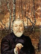 Hans Thoma Self-Portrait before a Birch Wood oil painting artist