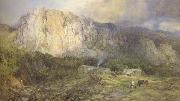 Henry Clarence Whaite,RWS Castle Rock,Cumberland (mk46) oil painting picture wholesale