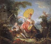 Jean-Honore Fragonard The Musical Contest oil painting picture wholesale