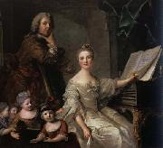 Jjean-Marc nattier The Artist and his Family oil painting
