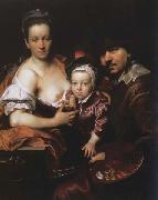 Johann kupetzky Portrait of the Artist with his Wife and Son oil painting picture wholesale