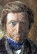 John Ruskin Self-Portrait in a Blue Neckcloth oil painting artist