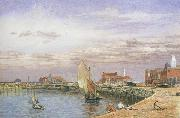 John brett,ARA View at Great Yarmouth (mk46) oil painting picture wholesale
