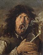 Joos van craesbeck The Smoker oil painting artist