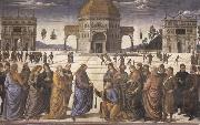 Pietro Perugino Christ Giving the Keys to Saint Peter oil painting picture wholesale