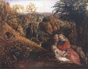 Samuel Palmer Rest on the Flight into Egypt or Holy Family oil painting picture wholesale