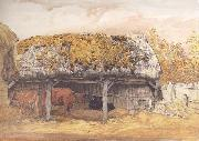 Samuel Palmer A Cow-Lodge with a Mossy Roof oil painting picture wholesale