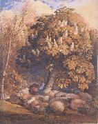 Samuel Palmer Pastoral with a Horse Chestnut Tree oil painting picture wholesale