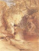 Samuel Palmer A Cascade in Shadow,Drawn on the Spot,near the Function of the Machno and Conway,North Wales oil painting picture wholesale