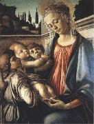 Sandro Botticelli Madonna and Child with two Angels oil painting picture wholesale