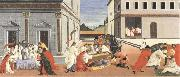 Sandro Botticelli Three miracles of St Zanobius,reviving the dead oil painting picture wholesale