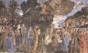 Sandro Botticelli Cosimo Rosselli and Assistants,Moses receiving the Tablets of the Law and Worship of the Golden Calf oil painting picture wholesale